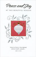 Silver & Gold Ornament (1 card/1 envelope) - Christmas Card
