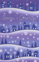 Hilltop Homes (1 card/1 envelope) - Christmas Card - FRONT: Season's Greetings  INSIDE: Wishing you the very best for the season and the coming year.