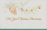 Embossed Pine Cone: Anniversary (1 card/1 envelope) - Christmas Card