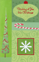 Shades of Green: Thinking of You (1 card/1 envelope) - Christmas Card