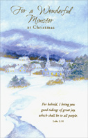 Snowy Church: Minister (1 card/1 envelope) - Christmas Card