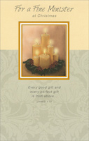 Candles: Minister (1 card/1 envelope) - Christmas Card