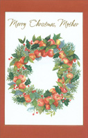 Wreath of Apples: Mother (1 card/1 envelope)  Christmas Card