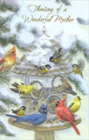 Bird Feeder: Mother (1 card/1 envelope)  Christmas Card
