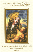 Mary & Jesus: Mom (1 card/1 envelope)  Christmas Card