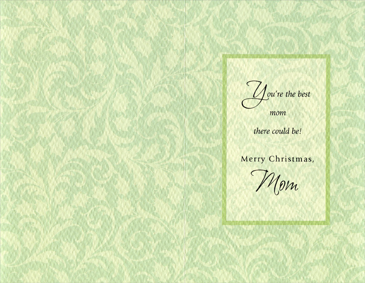 Twinkle Twinkle: Mom (1 card/1 envelope) Christmas Card - FRONT: Twinkle, Twinkle Little Tree  INSIDE: You're the best mom there could be! Merry Christmas, Mom