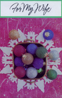 Basket of Ornaments: Wife (1 card/1 envelope)  Christmas Card
