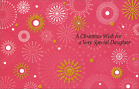 Gold Foil Snowflakes: Daughter (1 card/1 envelope) - Christmas Card