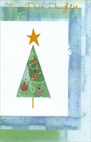 Diecut Tree: Daughter (1 card/1 envelope)  Christmas Card
