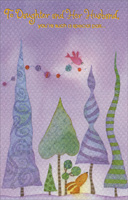 Textured Trees on Purple: Daughter (1 card/1 envelope) - Christmas Card