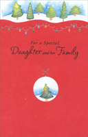 Circle Ornament with Tree: Daughter (1 card/1 envelope) - Christmas Card
