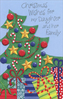 Decorated Tree: Daughter (1 card/1 envelope) - Christmas Card