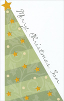 Light Green Tree: Son (1 card/1 envelope) - Christmas Card