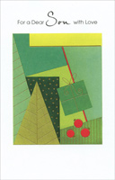 Contemporary Tree & Gift: Son (1 card/1 envelope)  Christmas Card