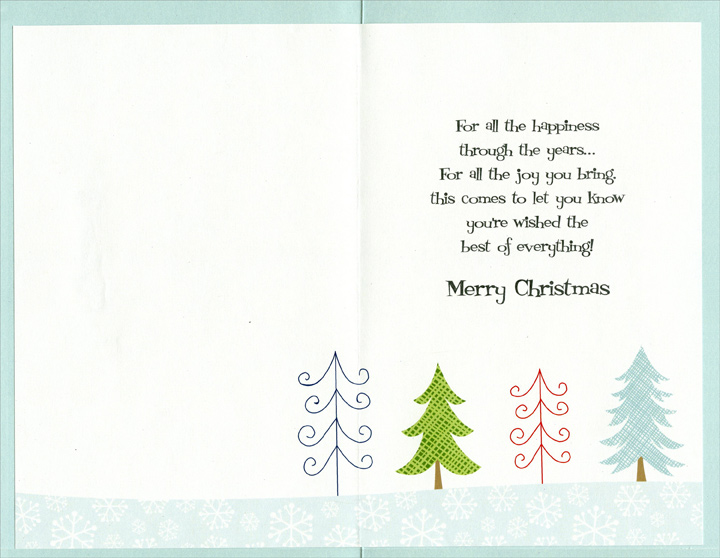 Sleigh of Gifts: Son (1 card/1 envelope) Christmas Card - FRONT: Merry Christmas Son!  INSIDE: For all the happiness through the years… For all the joy you bring this comes to let you know you're wished the best of everything! Merry Christmas