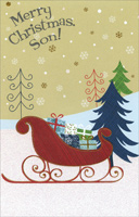 Sleigh of Gifts: Son (1 card/1 envelope) - Christmas Card