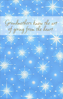 Sparkling Snowflakes: Grandmother (1 card/1 envelope)  Christmas Card