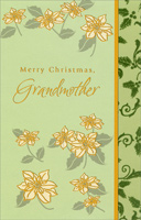 Gold Border Flowers: Grandmother (1 card/1 envelope)  Christmas Card