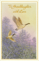 Pair of Geese: Granddaughter (1 card/1 envelope) - Christmas Card