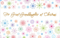 Glitter Snowflakes: Great-Granddaughter (1 card/1 envelope)  Christmas Card