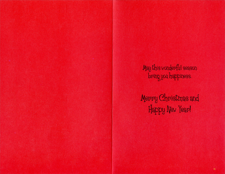 Ornaments, Presents, and Stocking: Grandson (1 card/1 envelope) - Christmas Card - FRONT: For You, Grandson  INSIDE: May this wonderful season bring you happiness. Merry Christmas and Happy New Year!
