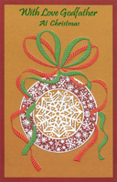 Snowflake Ornament: Godfather (1 card/1 envelope) - Christmas Card