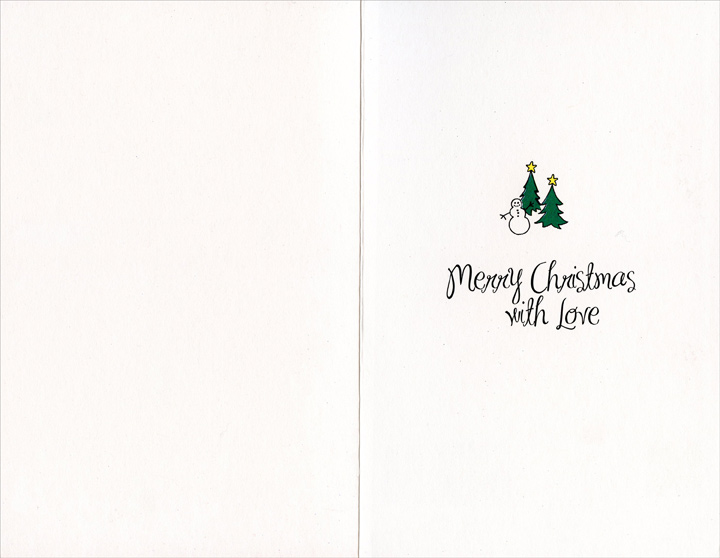 Wonderful Time: Niece (1 card/1 envelope) Christmas Card - FRONT: Just for You, Niece, at this Wonderful time of Year  INSIDE: Merry Christmas with Love