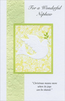 Embossed Dove: Nephew (1 card/1 envelope)  Christmas Card