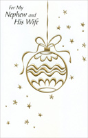 Gold Foil Ornament: Nephew (1 card/1 envelope)  Christmas Card