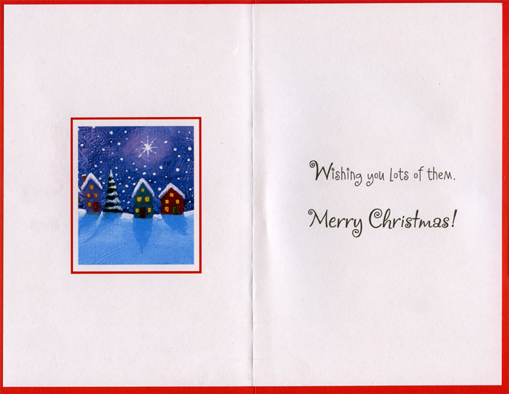 Little Moments (1 card/1 envelope) Christmas Card - FRONT: Happy Little Moments this Christmas…  INSIDE: Wishing you lots of them. Merry Christmas!