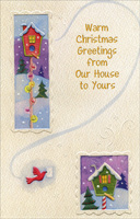 Bird House (1 card/1 envelope) - Christmas Card