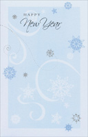Swirls & Snowflakes (1 card/1 envelope) - New Year Card