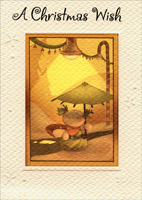 Umbrella Under Lights (1 card/1 envelope) - Christmas Card