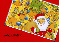 Keep Smiling (1 card/1 envelope) - Christmas Card