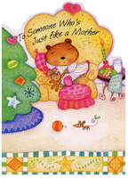 Bear on Couch: Like a Mother (1 card/1 envelope) - Christmas Card
