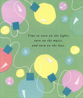 Pastel Lights (1 card/1 envelope) - Christmas Card