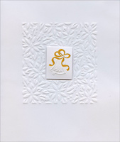 Bell on White Embossed (1 card/1 envelope) - Christmas Card