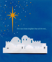 One Star (1 card/1 envelope)  Christmas Card