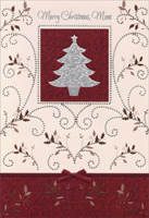 Silver Foil Tree: Mom (1 card/1 envelope) - Christmas Card