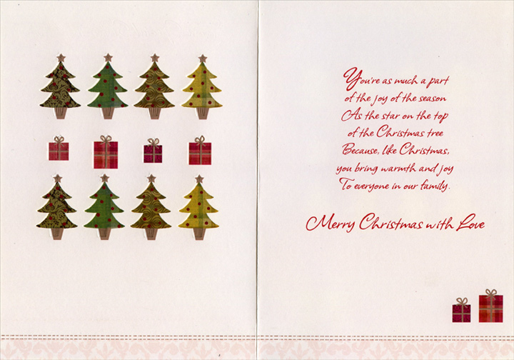 8 trees with gold trim sister in law christmas card by freedom inside m4hsunfo