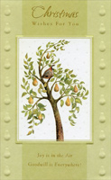 Partridge in Pear Tree (1 card/1 envelope) - Christmas Card