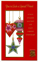 Hanging Ornaments: Friend (1 card/1 envelope) - Christmas Card