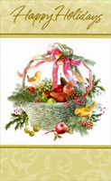 Basket of Fruit (1 card/1 envelope)  Christmas Card