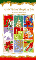 Nine Panels: Thinking of You (1 card/1 envelope)  Christmas Card