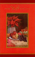 Flowers and Fruit Table: Wife (1 card/1 envelope) - Christmas Card