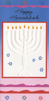 Embossed Dreidel Money Holder (1 card/1 envelope) Freedom Greetings Hannukah Card