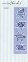 Four Stars Money Holder (1 card/1 envelope) - Hannukah Card - FRONT: You Make Chanukah Special  INSIDE: So do something special for you!  Have a Wonderful Chanukah