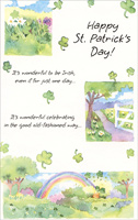 Wonderful to be Irish (1 card/1 envelope) Freedom Greetings St. Patrick's Day Card