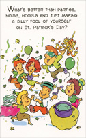 Parties, Noise, Hoopla (1 card/1 envelope) Freedom Greetings St. Patrick's Day Card