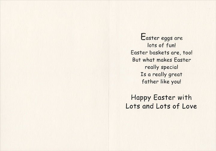 Bunny, Home, Egg, Balloon: Father (1 card/1 envelope) Easter Card ...